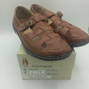 0cc5dbc779e Hush Puppies Wharf saddle Leather shoes sandals